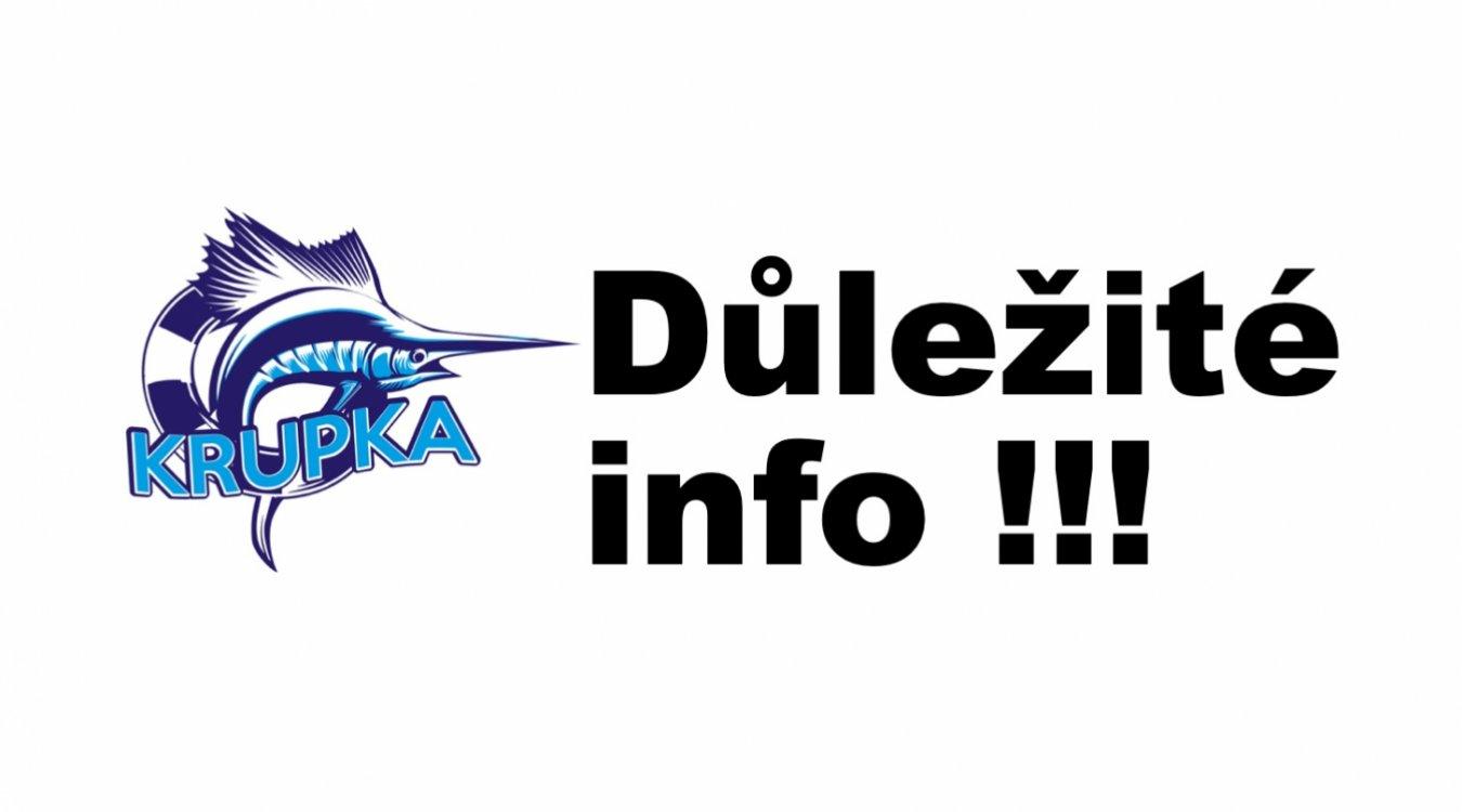 Klubové info - DŮLEŽITÉ!